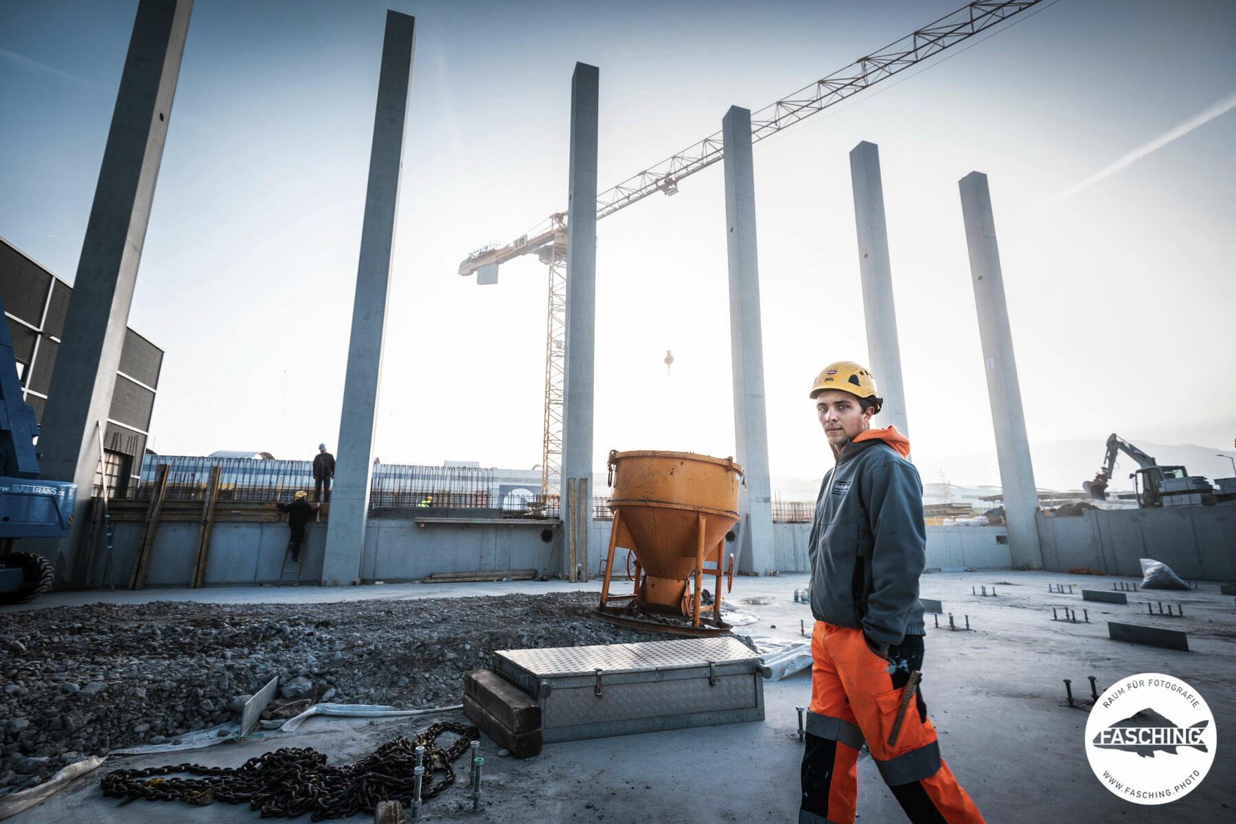 Baustellenfotos und Fotografie für vorarlberger Unternehmen von Fotostudio Fasching