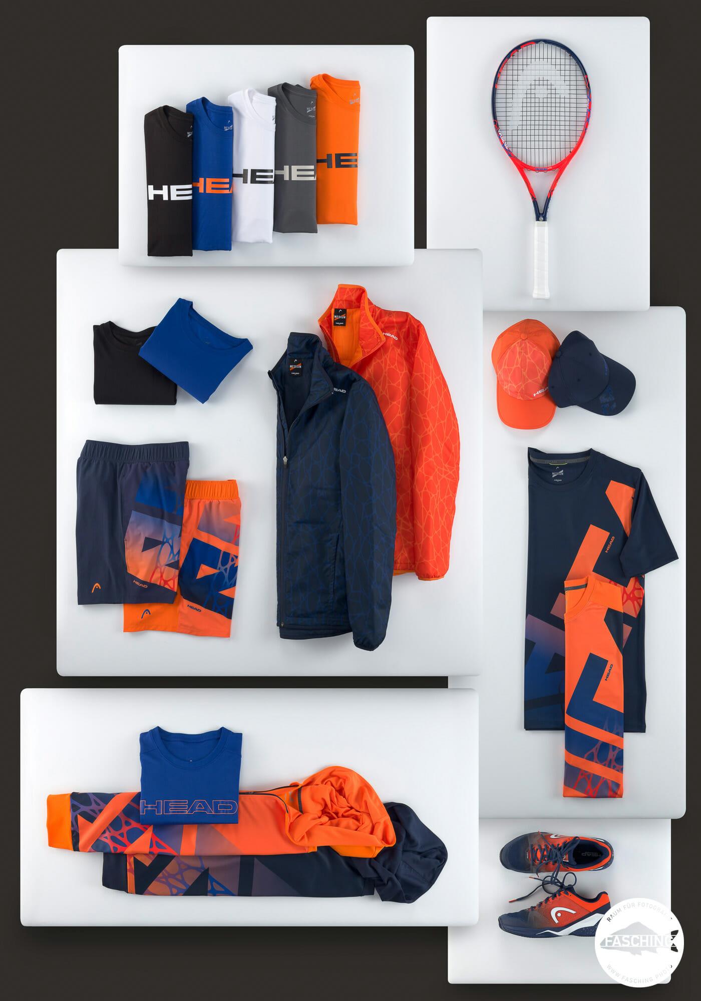 Für HEAD Sportswear haben unsere Produktfotografen die Sommerkollektion 2019 im Studio Fasching fotografiert