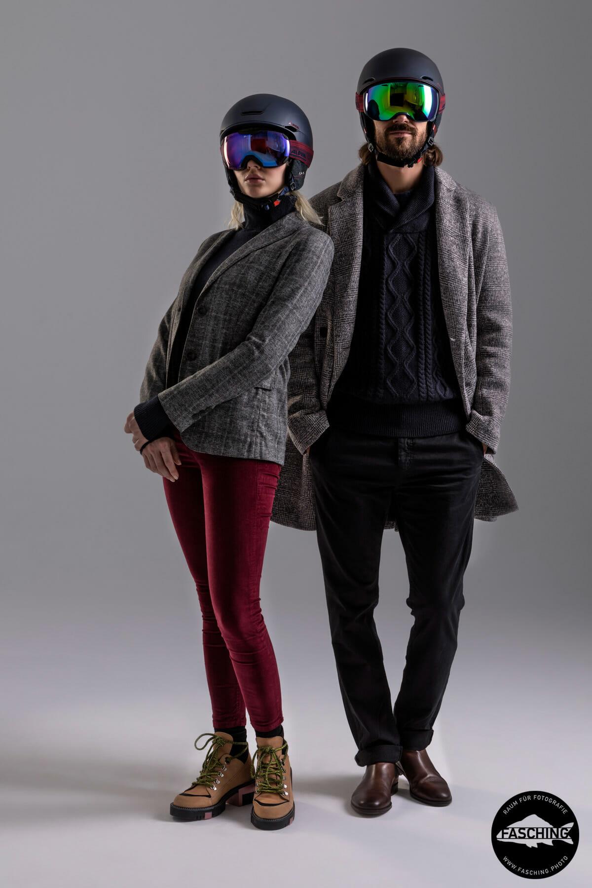 Modefotografen Reinhard und Luca Fasching fotografierten die Winterkollektion 2018/19 für unseren Kuden Alpina Sports aus München