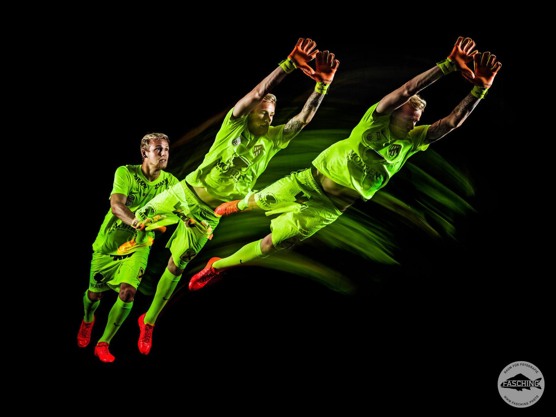 Die Bilder für die Autogrammkarten wurden von Sportfotograf Luca Fasching fotografiert