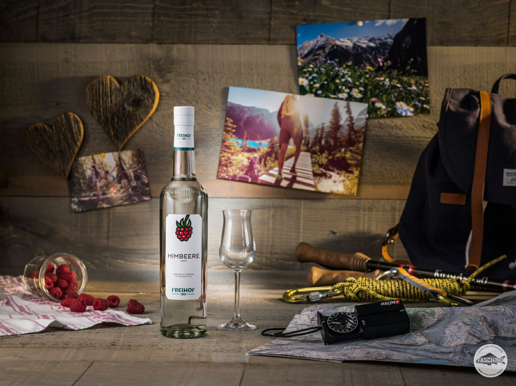 Diese Freihof Produktaufnahmen wurden von dem Fotograf Reinhard Fasching fotografiert