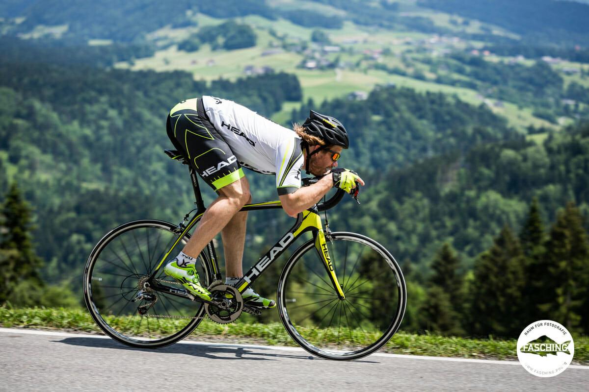 Kjetil Jansrud wurde für HEAD Bikes von den Fotografen des Studio Fasching fotografiert