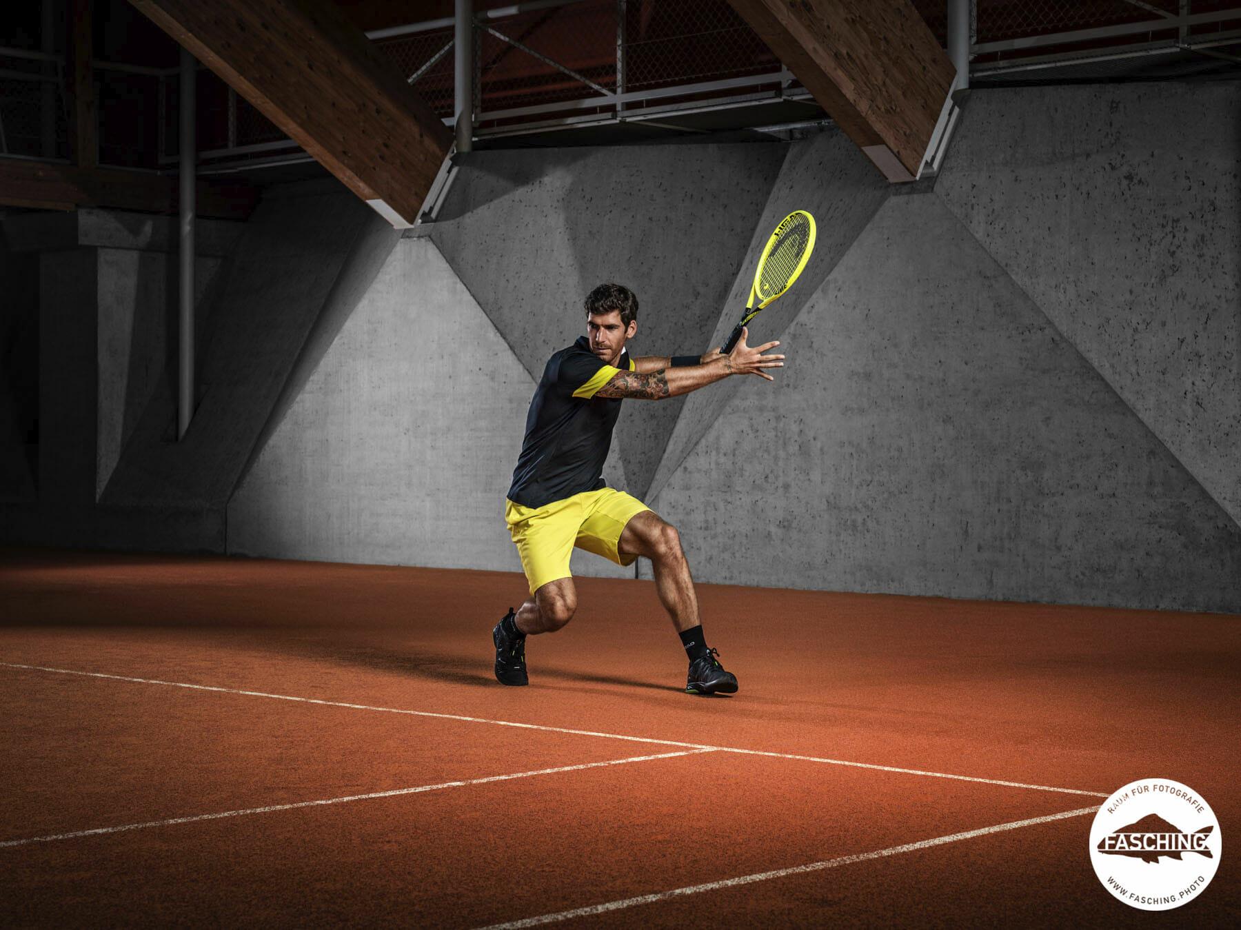 Actionbilder vom Tennisprofi Fotografie von Studio Fasching