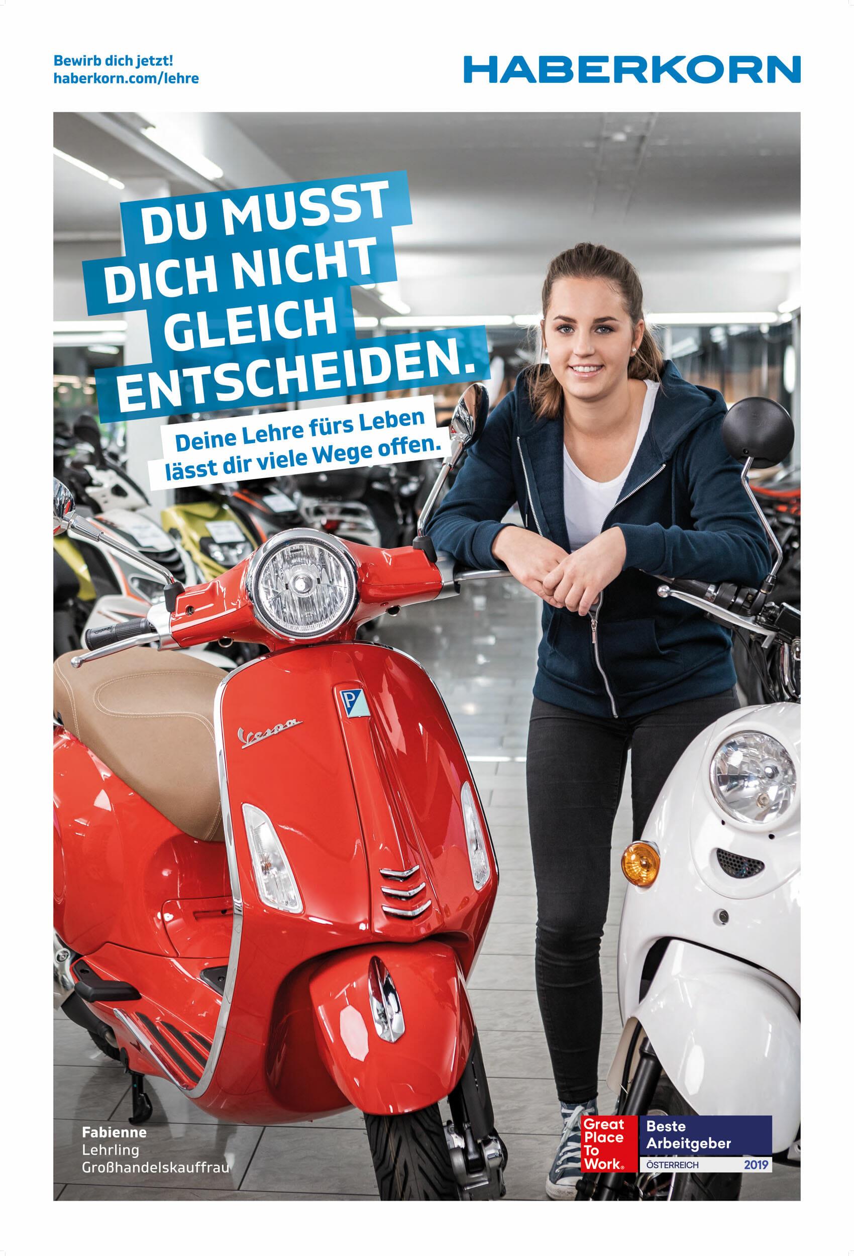 Der Bregenzer Industriefotograf Luca Fasching fotografierte für Haberkorn die aktuelle Lehrlingskampage