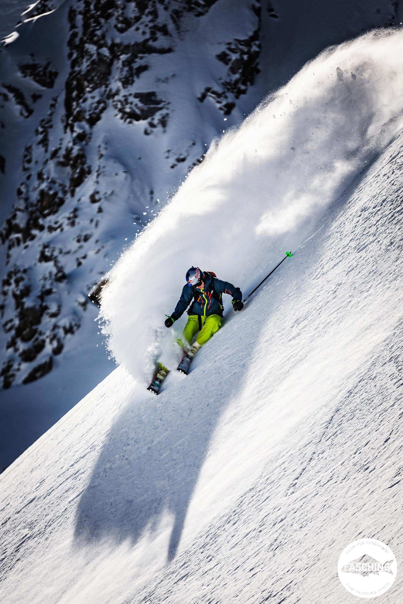 Sportfotografie in der Winterlandschaft am Arlberg von Studio Fasching