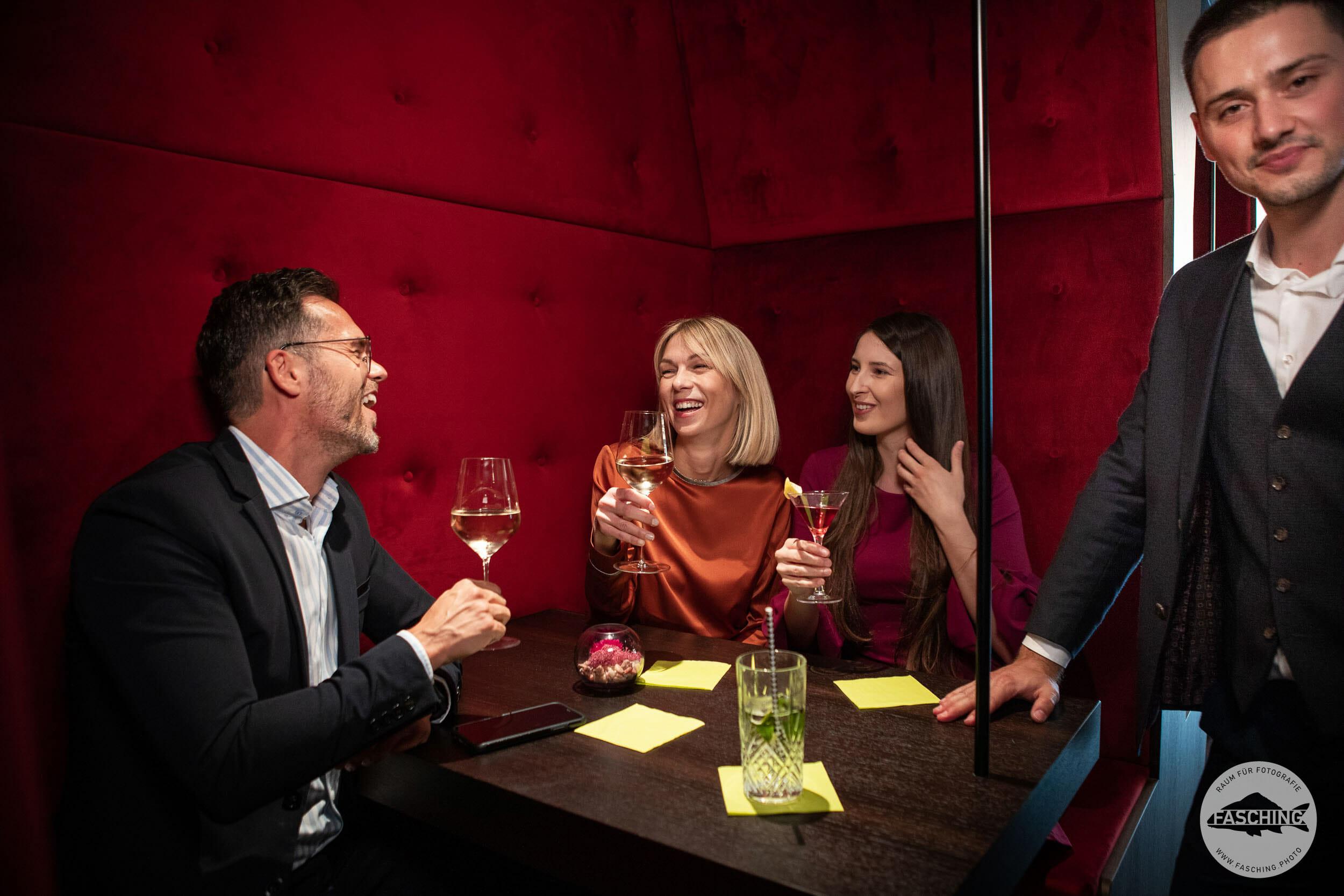 Hotelfotografie in der Bar, Hotel Messmer Bregenz